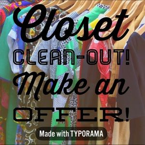 Closet Clean-Out— Open to reasonable offers!